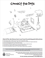 Thumbnail of the Connect the dots activity sheet, described in the text description that immediately follows.